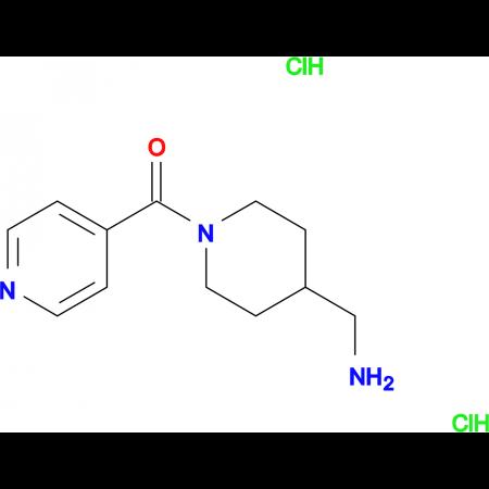 [4-(Aminomethyl)piperidin-1-yl](pyridin-4-yl)methanone dihydrochloride