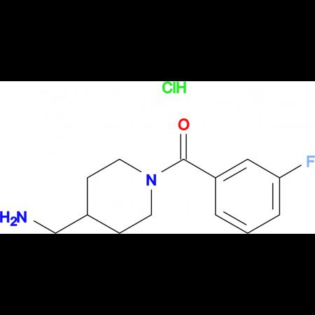 [4-(Aminomethyl)piperidin-1-yl](3-fluorophenyl)methanone hydrochloride