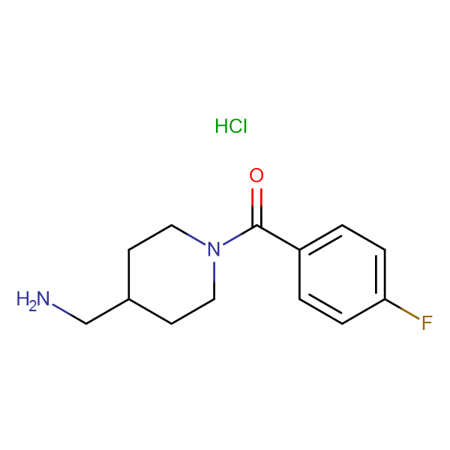 [4-(Aminomethyl)piperidin-1-yl](4-fluorophenyl)methanone hydrochloride