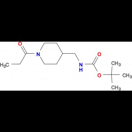 tert-Butyl [(1-propionylpiperidin-4-yl)methyl]carbamate