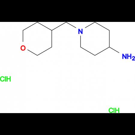 1-[(Tetrahydro-2H-pyran-4-yl)methyl]piperidin-4-amine dihydrochloride