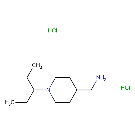 [1-(Pentan-3-yl)piperidin-4-yl]methanamine dihydrochloride