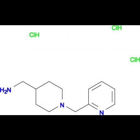 [1-(Pyridin-2-ylmethyl)piperidin-4-yl]methanamine trihydrochloride