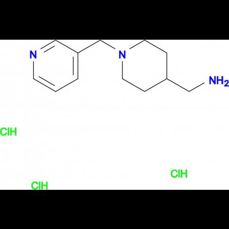 [1-(Pyridin-3-ylmethyl)piperidin-4-yl]methanamine trihydrochloride
