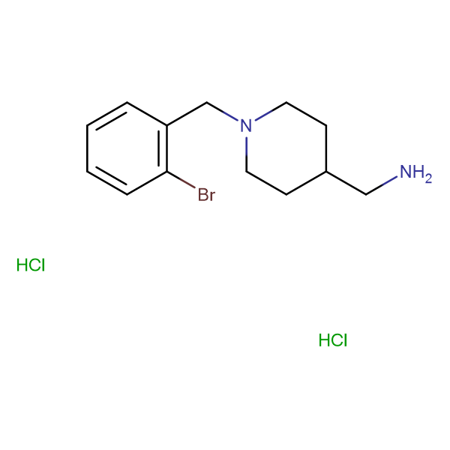 [1-(2-Bromobenzyl)piperidin-4-yl]methanamine dihydrochloride