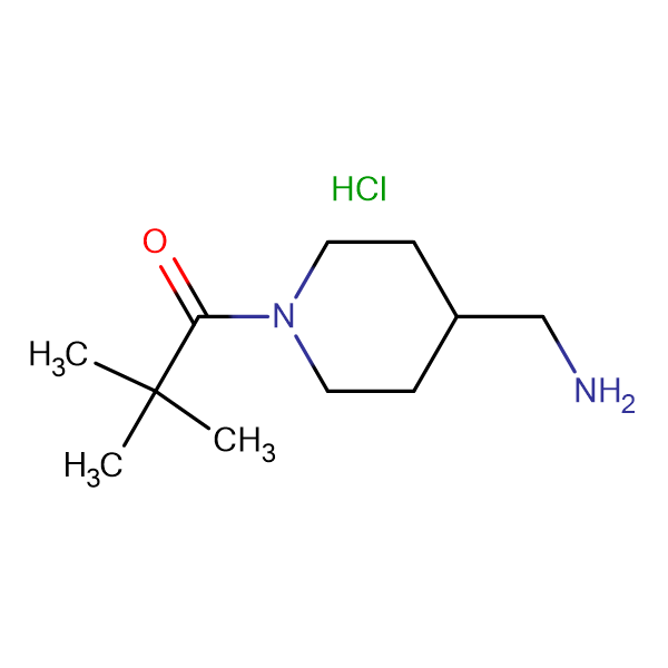 1-[4-(Aminomethyl)piperidin-1-yl]-2,2-dimethylpropan-1-one hydrochloride