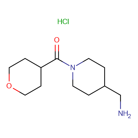 [4-(Aminomethyl)piperidin-1-yl](tetrahydro-2H-pyran-4-yl)methanone hydrochloride