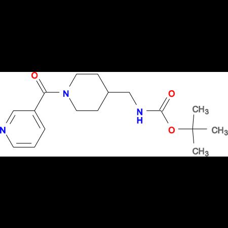 tert-Butyl [(1-nicotinoylpiperidin-4-yl)methyl]carbamate