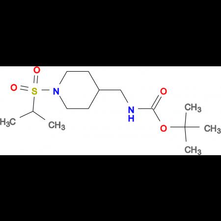 tert-Butyl [1-(isopropylsulfonyl)piperidin-4-yl]methylcarbamate