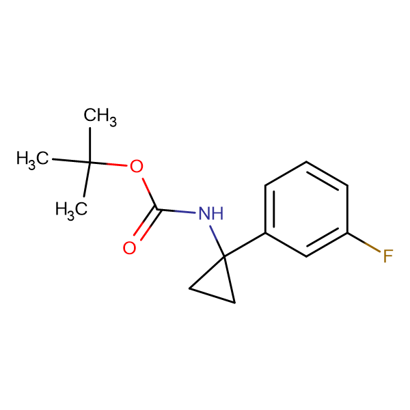 tert-Butyl N-[1-(3-fluorophenyl)cyclopropyl]carbamate