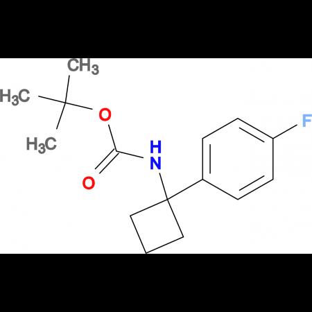 tert-Butyl N-[1-(4-fluorophenyl)cyclobutyl]carbamate