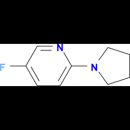 5-Fluoro-2-pyrrolidin-1-ylpyridine