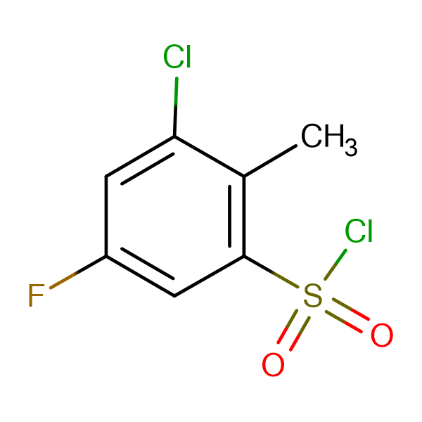 3-Chloro-5-fluoro-2-methylbenzenesulfonyl chloride