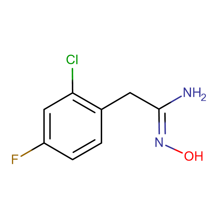 2-(2-Chloro-4-fluorophenyl)-N'-hydroxyethanimidamide