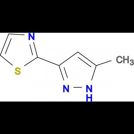 2-(5-Methyl-1H-pyrazol-3-yl)-1,3-thiazole