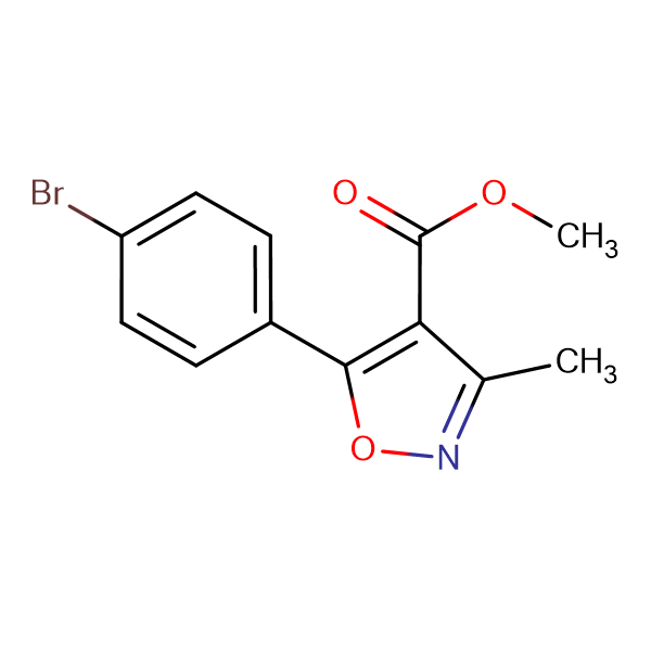 5-(4-Bromo-phenyl)-3-methyl-isoxazole-4-carboxylic acid methyl ester