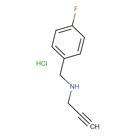 (4-Fluorobenzyl)2-propyn-1-ylamine hydrochloride