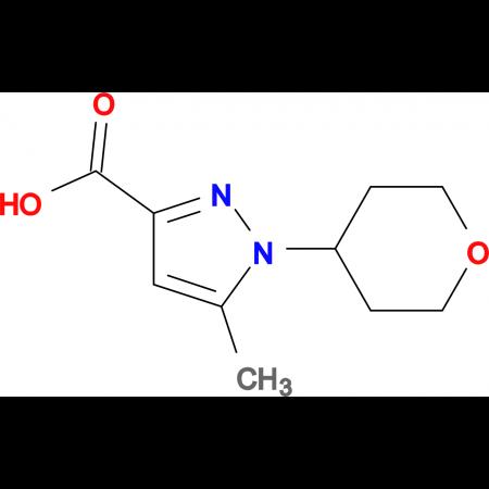 5-Methyl-1-(tetrahydro-2H-pyran-4-yl)-1H-pyrazole-3-carboxylic acid