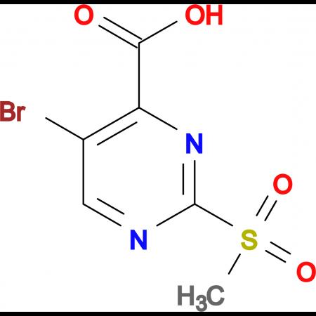 2-Methylsulfonyl-5-bromopyrimidine-4-carboxylic acid