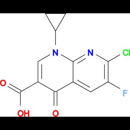 1-Cyclopropyl-6-fluoro-7-chloro-4-oxo-1,4-dihydro-1,8-naphthyridine-3-carboxylic acid