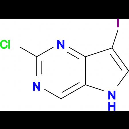 2-Chloro-7-iodo-5H-pyrrolo[3,2-d]pyrimidine