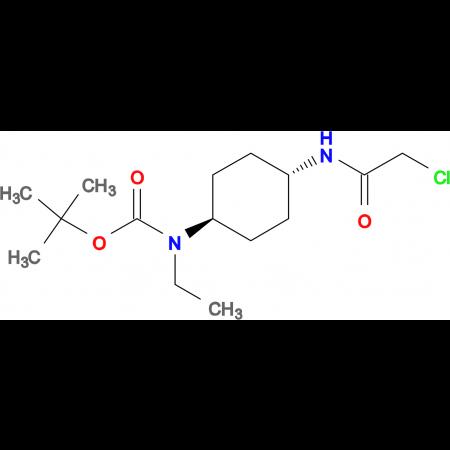 (1R,4R)- [4-(2-Chloro-acetylamino)-cyclohexyl]-ethyl-carbamic acid tert-butyl ester