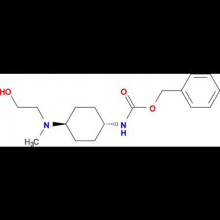 (1R,4R)-{4-[(2-Hydroxy-ethyl)-methyl-amino]-cyclohexyl}-carbamic acid benzyl ester