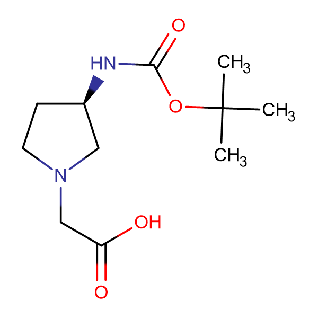 ((R)-3-tert-Butoxycarbonylamino-pyrrolidin-1-yl)-acetic acid