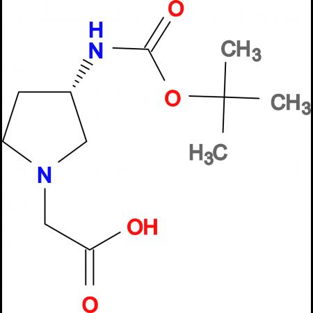 ((S)-3-tert-Butoxycarbonylamino-pyrrolidin-1-yl)-acetic acid