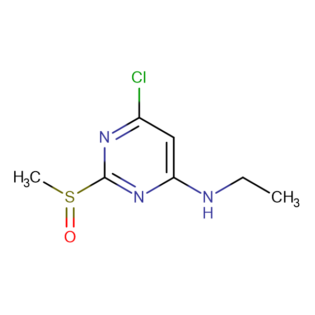 (6-Chloro-2-methanesulfinyl-pyrimidin-4-yl)-ethyl-amine