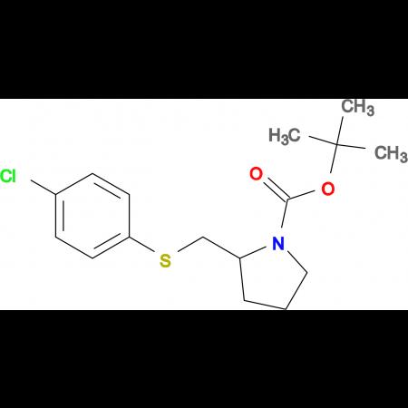 2-(4-Chloro-phenylsulfanylmethyl)-pyrrolidine-1-carboxylic acid tert-butyl ester