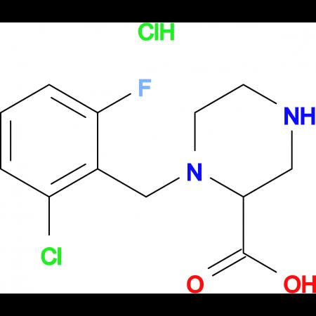 1-(2-Chloro-6-fluoro-benzyl)-piperazine-2-carboxylic acid hydrochloride