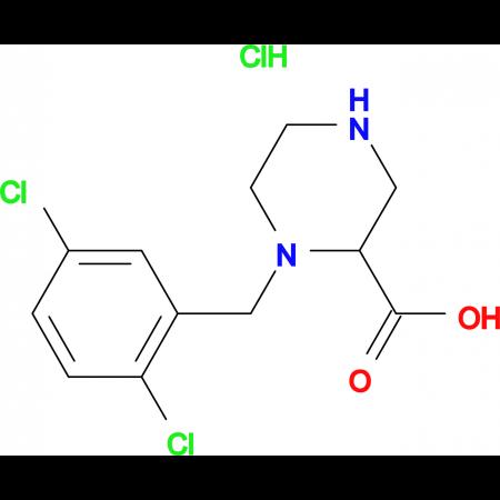 1-(2,5-Dichloro-benzyl)-piperazine-2-carboxylic acid hydrochloride
