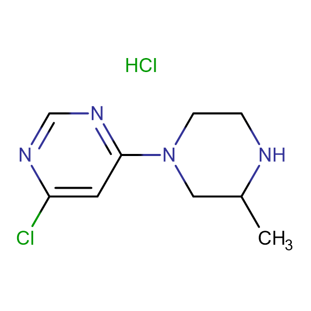 4-Chloro-6-(3-methyl-piperazin-1-yl)-pyrimidine hydrochloride