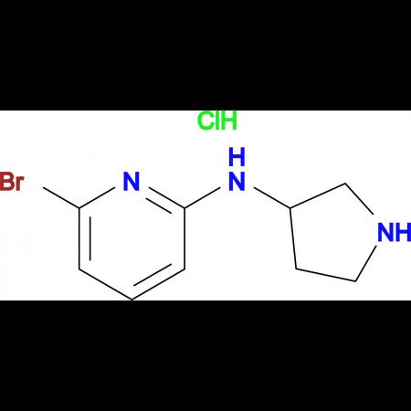 (6-Bromo-pyridin-2-yl)-pyrrolidin-3-yl-amine hydrochloride