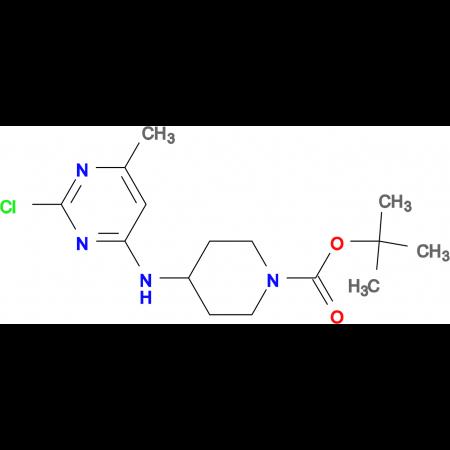 4-(2-Chloro-6-methyl-pyrimidin-4-ylamino)-piperidine-1-carboxylic acid tert-butyl ester