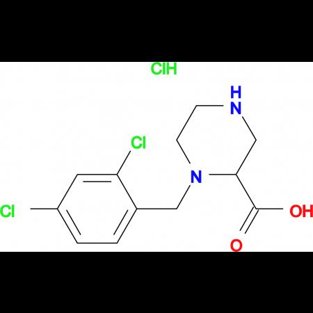 1-(2,4-Dichloro-benzyl)-piperazine-2-carboxylic acid hydrochloride