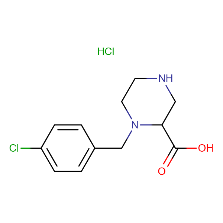 1-(4-Chloro-benzyl)-piperazine-2-carboxylic acid hydrochloride