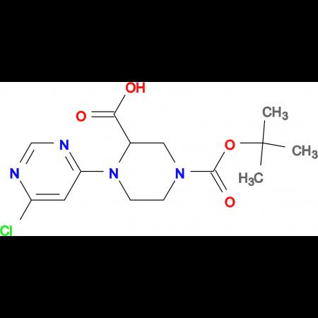 4-(6-Chloro-pyrimidin-4-yl)-piperazine-1,3-dicarboxylic acid 1-tert-butyl ester