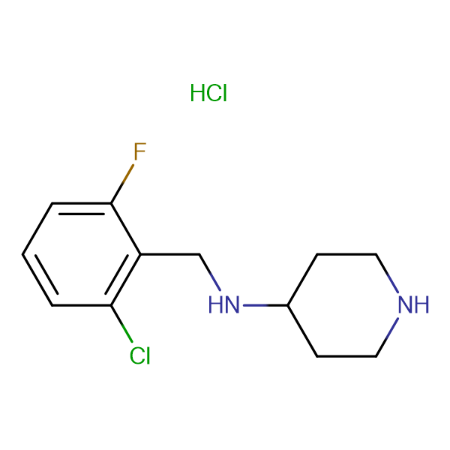 (2-Chloro-6-fluoro-benzyl)-piperidin-4-yl-amine hydrochloride
