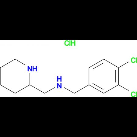 (3,4-Dichloro-benzyl)-piperidin-2-ylmethyl-amine hydrochloride