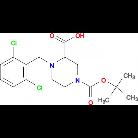 4-(2,6-Dichloro-benzyl)-piperazine-1,3-dicarboxylic acid 1-tert-butyl ester