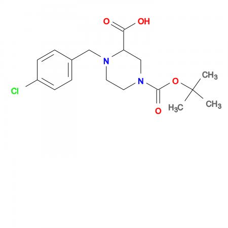 4-(4-Chloro-benzyl)-piperazine-1,3-dicarboxylic acid 1-tert-butyl ester
