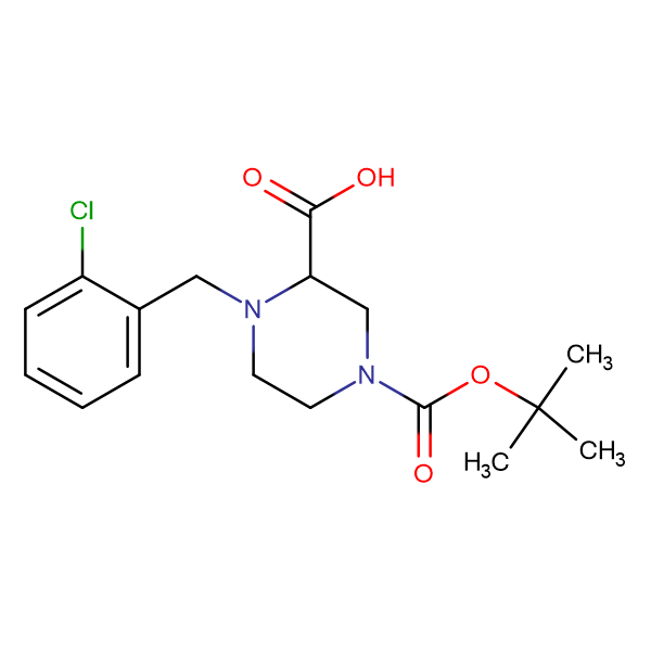 4-(2-Chloro-benzyl)-piperazine-1,3-dicarboxylic acid 1-tert-butyl ester