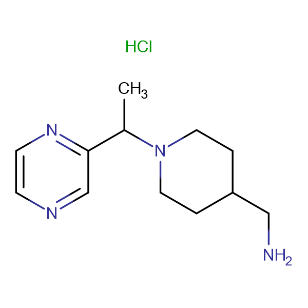 C-[1-(1-Pyrazin-2-yl-ethyl)-piperidin-4-yl]-methylamine  hydrochloride