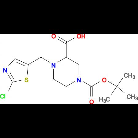 4-(2-Chloro-thiazol-5-ylmethyl)-piperazine-1,3-dicarboxylic acid 1-tert-butyl ester