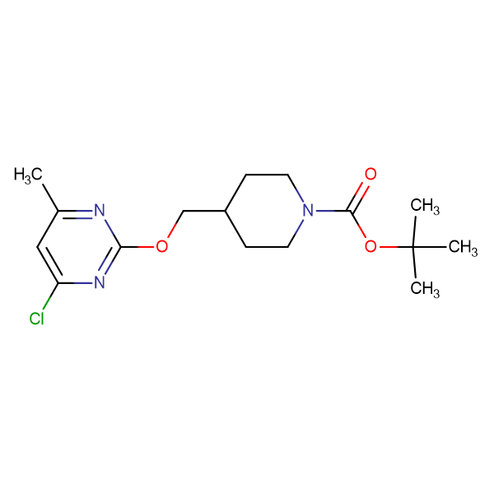 4-(4-Chloro-6-methyl-pyrimidin-2-yloxymethyl)-piperidine-1-carboxylic acid tert-butyl ester