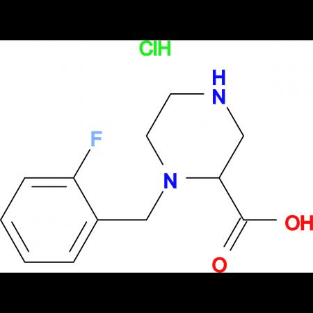 1-(2-Fluoro-benzyl)-piperazine-2-carboxylic acid hydrochloride