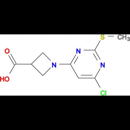 1-(6-Chloro-2-methylsulfanyl-pyrimidin-4-yl)-azetidine-3-carboxylic acid