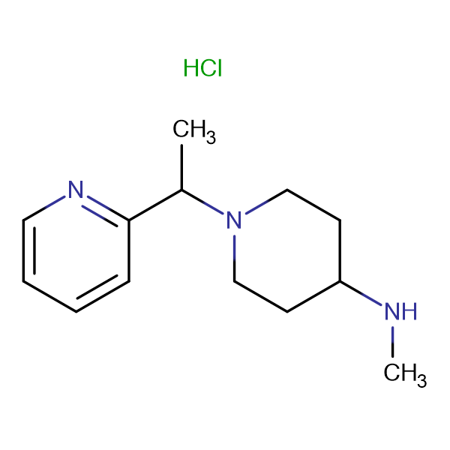 Methyl-[1-(1-pyridin-2-yl-ethyl)-piperidin-4-yl]-amine hydrochloride